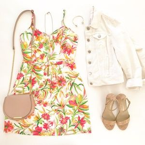 J. Crew Printed Floral Seaside Colorful Cami Dress